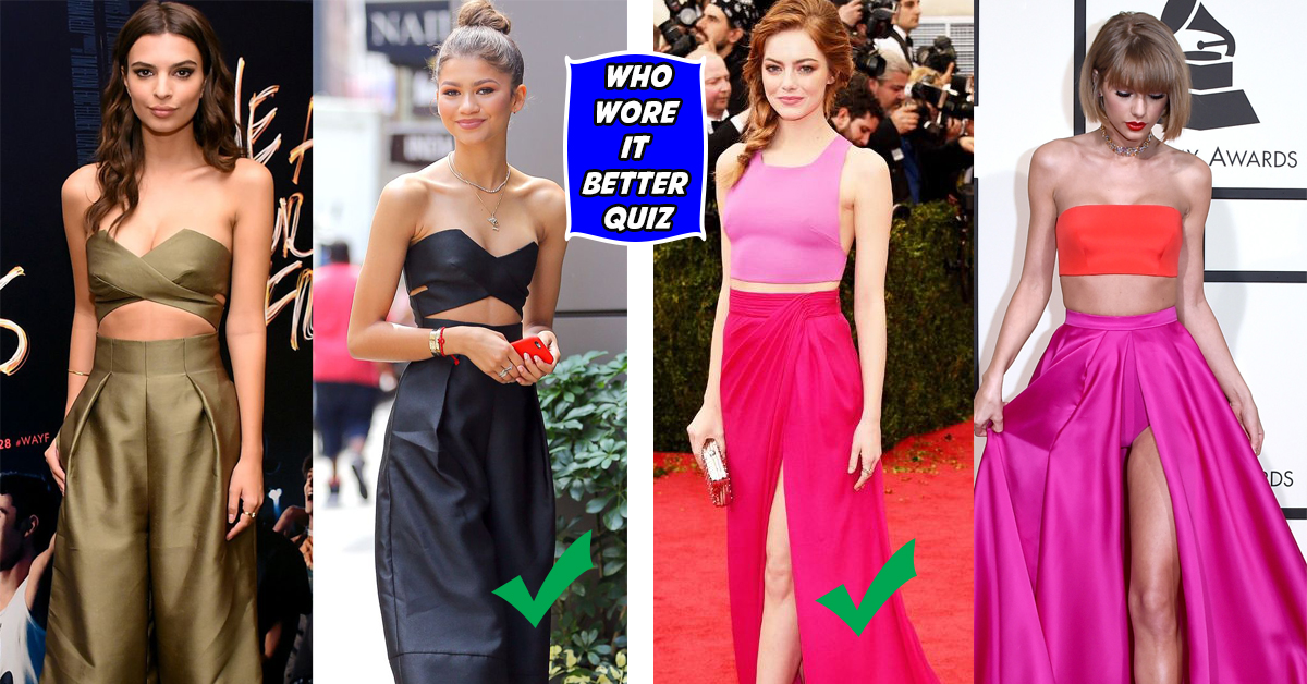 pick who wore it better and we ll guess your gender thequiz