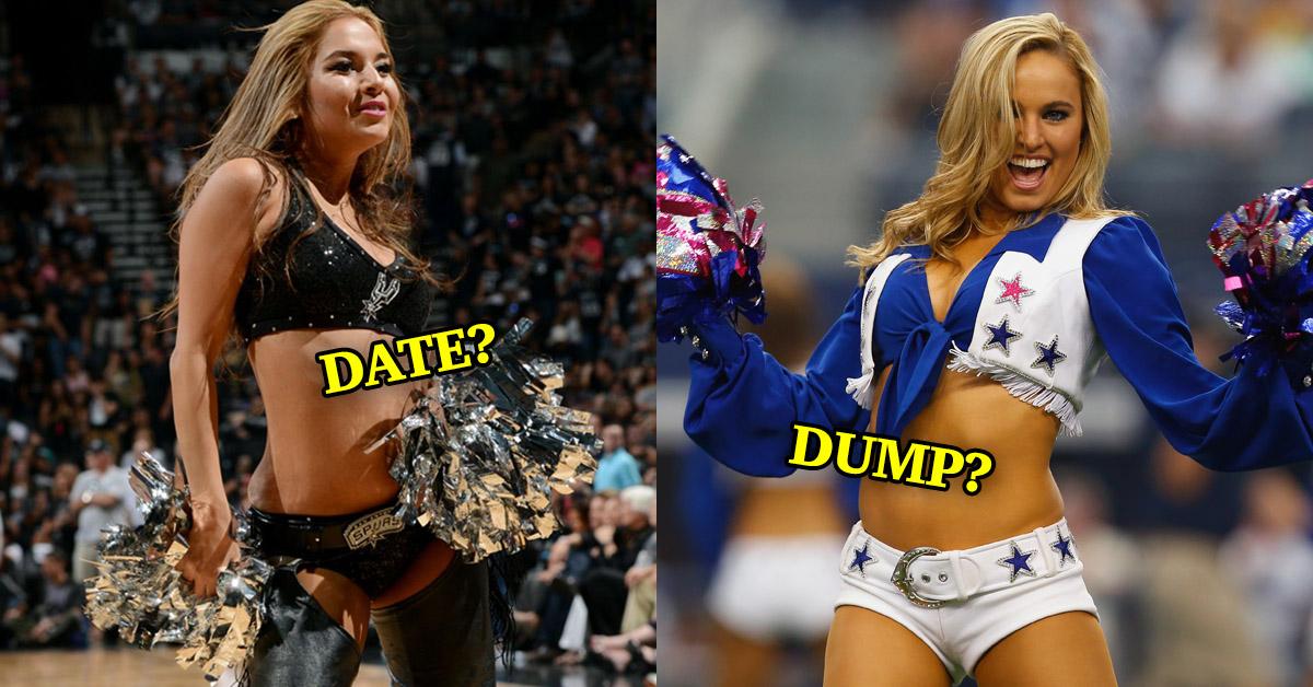NFL cheerleader dating