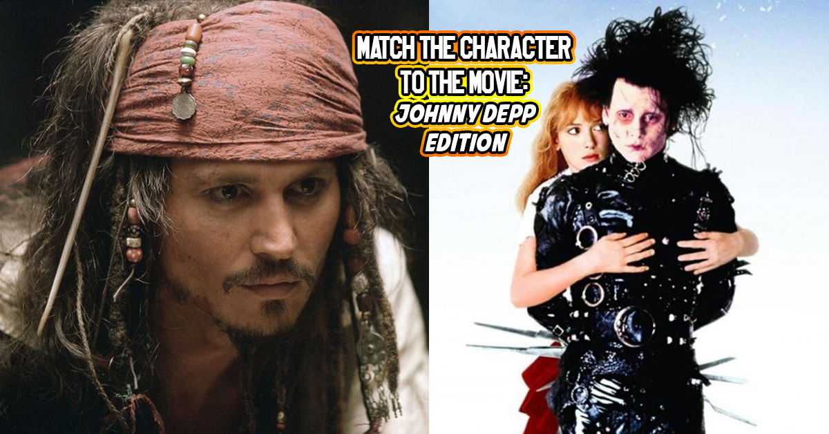 Only 120 People Can Match All The Johnny Depp Characters To The
