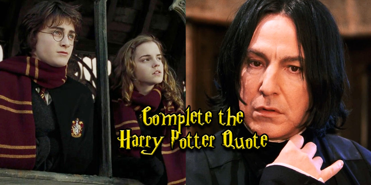 Only A True Potterhead Could Finish These Quotes Thequiz